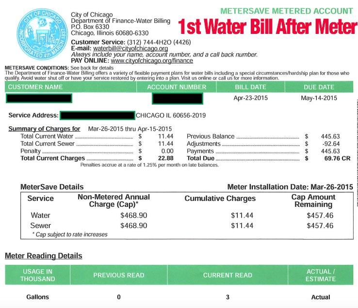 1st water bill