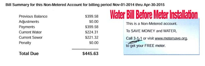 Chicago Non-Metered Water Bill