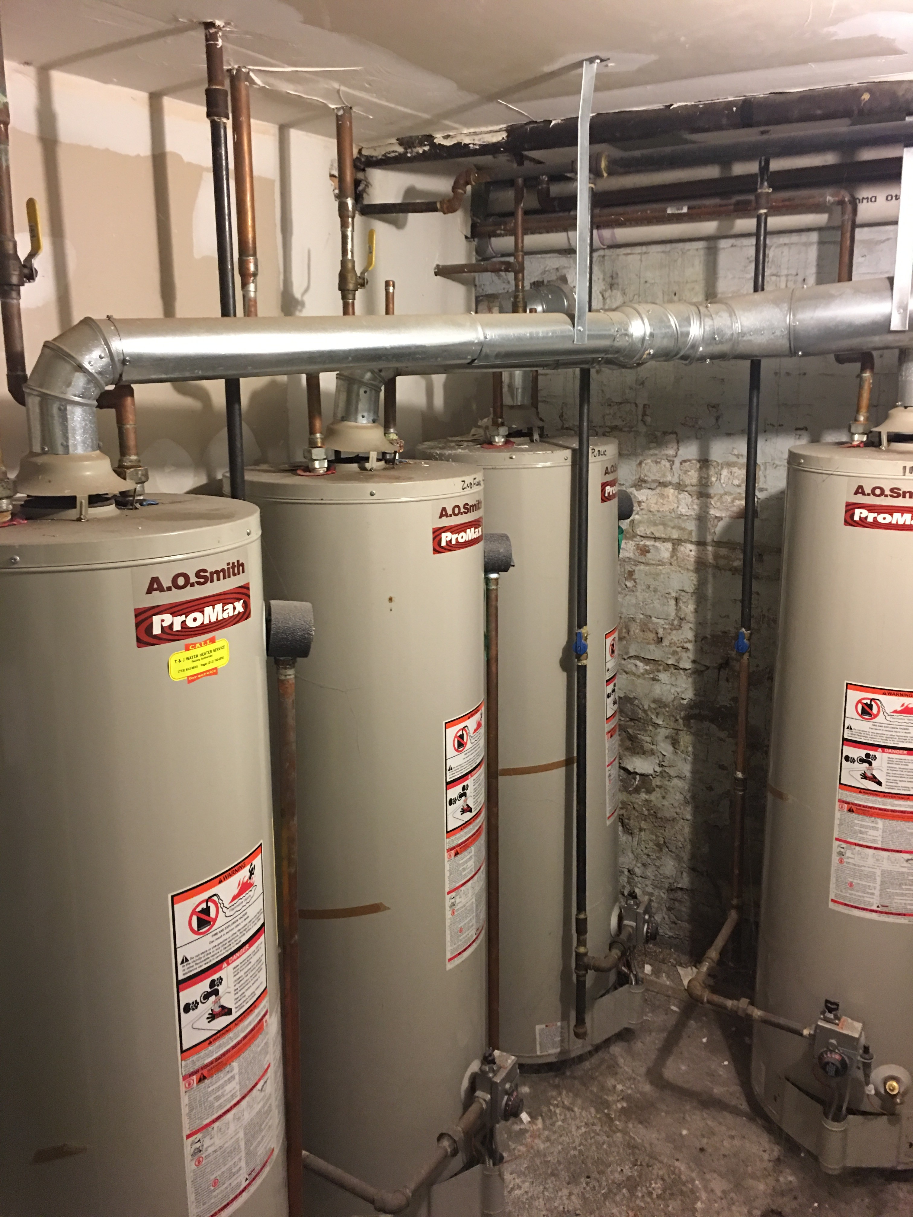 New Water Heater Installation